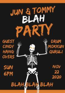 """【アーカイブ配信中】JUN & TOMMY(the HANGOVERS) """"BLAH PARTY"""" 【Guest the Drummer 森 信行(くるり)・シンディ(the HANGOVERS)"""
